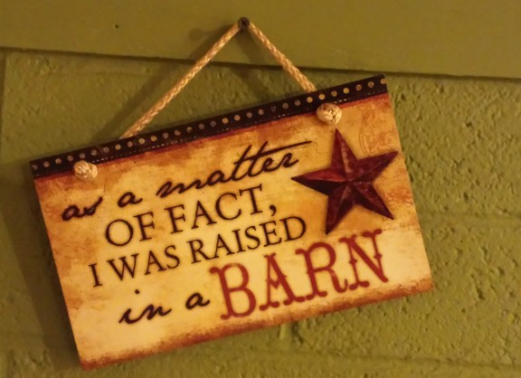Raised in a barn 2