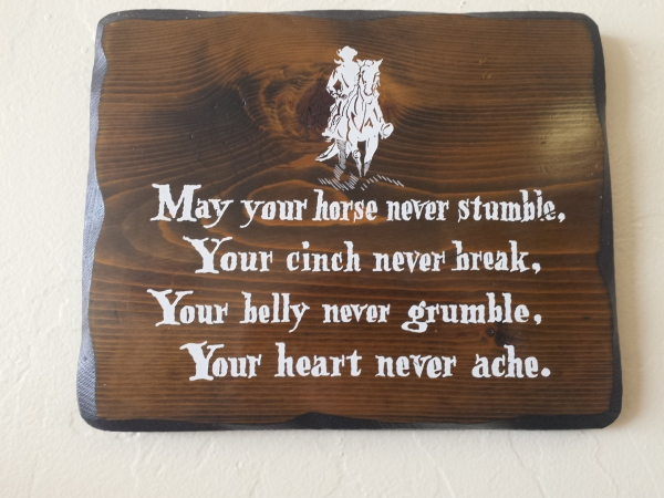 May your horse...